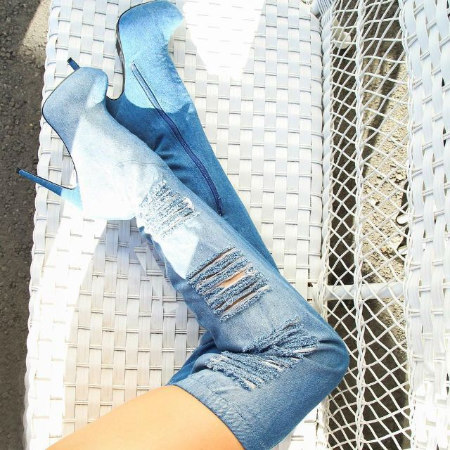 Now Comes A Very Por Diy Which Is Denim Boots I M No Pro But Wanted To Show You How Make From Pair Of Jeans Hope Will Love