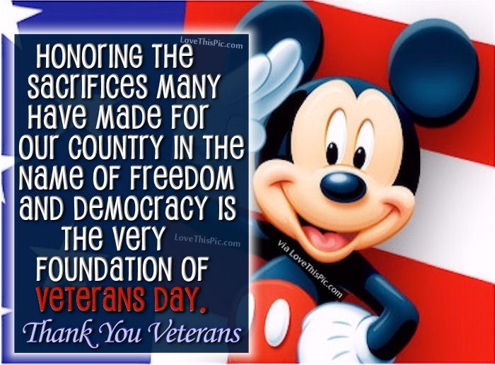 Image of: Military Thank You Veterans Disney Quote Lovethispic Thank You Veterans Disney Quote Pictures Photos And Images For