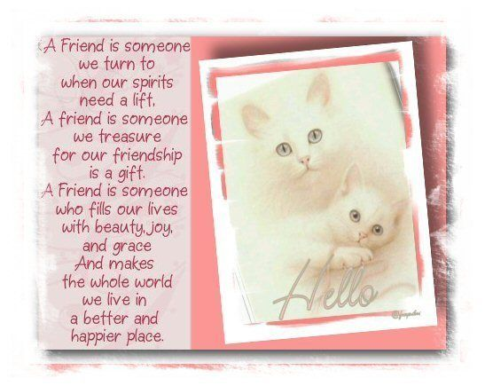 A Friend Is Someone We Turn To When Our Spirits Need A ...
