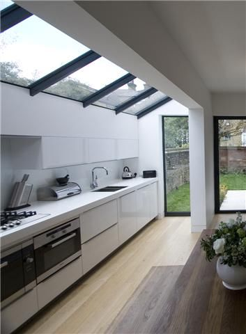 galley kitchen extension ideas glass roof for kitchen extension pictures photos and 3700