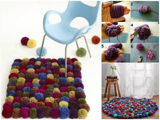 Diy pom pom rug pictures photos and images for facebook - Idee de creation a faire sois meme ...