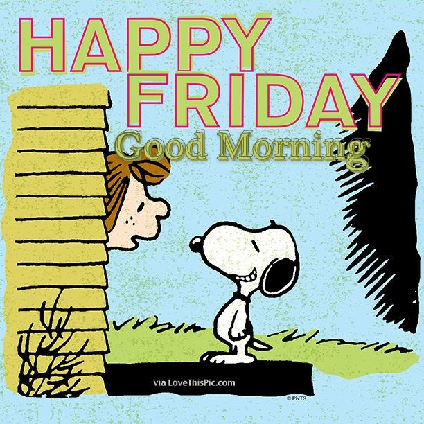 Snoopy Happy Friday Good Morning Pictures, Photos, and Images for ...