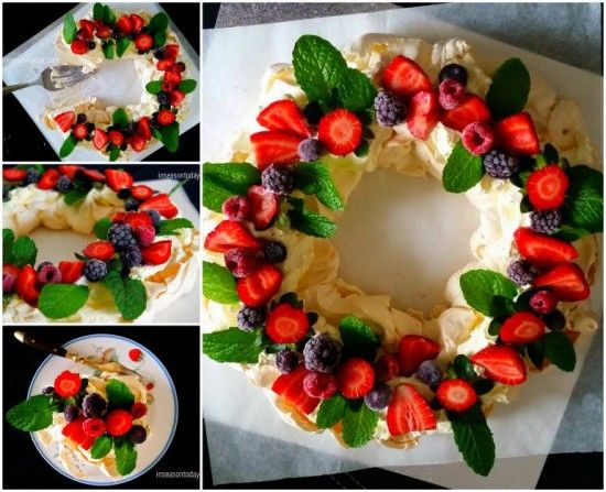 Pavlova Wreath Christmas Recipe Pictures, Photos, and Images for ...