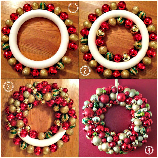 Easy DIY Ornament Wreath For Christmas Pictures, Photos ...