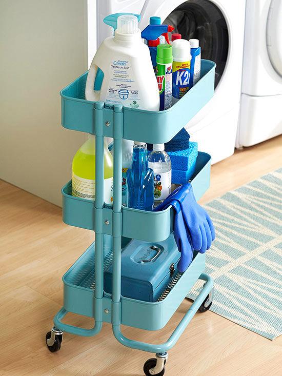 Laundry Room 3 Tier Cart Storage