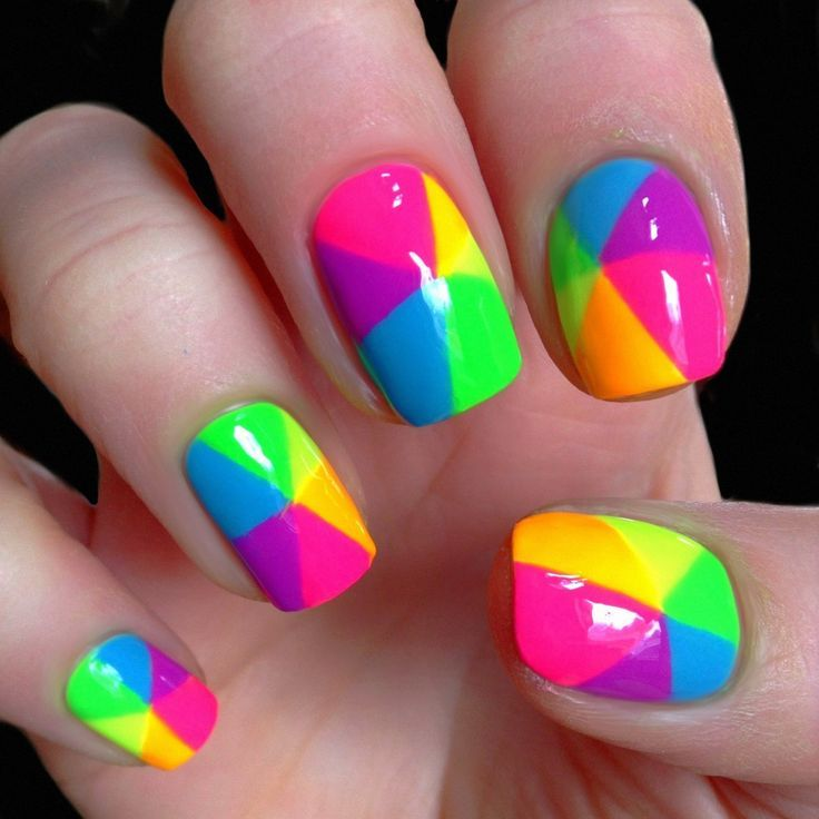 Colorful Rainbow Nail Art - Colorful Rainbow Nail Art Pictures, Photos, And Images For Facebook