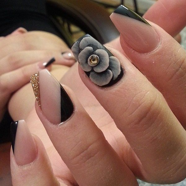 Acrylic Nail Art Rose: Black Rose Nail Art Pictures, Photos, And Images For