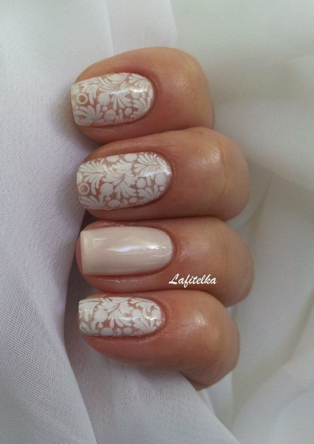 White And Tan Nail Art - White And Tan Nail Art Pictures, Photos, And Images For Facebook