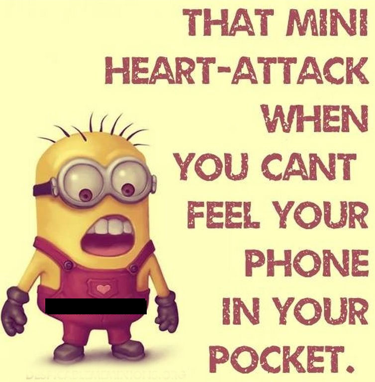 Phone Quotes Interesting When You Cant Feel Your Phone Minion Quote Pictures Photos And