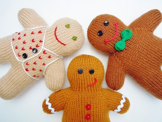 Christmas Gingerbread Man Knitting Pattern : Happy Gingerbread Men Knitting Tutorial Pictures, Photos, and Images for Face...