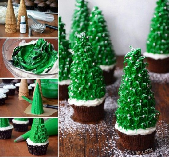 Christmas Tree Cone Cupcaks Pictures Photos and Images for
