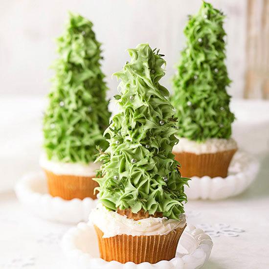beautiful christmas tree cupcakes - Beautiful Christmas Tree