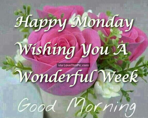 Good Morning Monday Quotes For Someone Special: Good Morning Monday Have A Wonderful Week Pictures, Photos