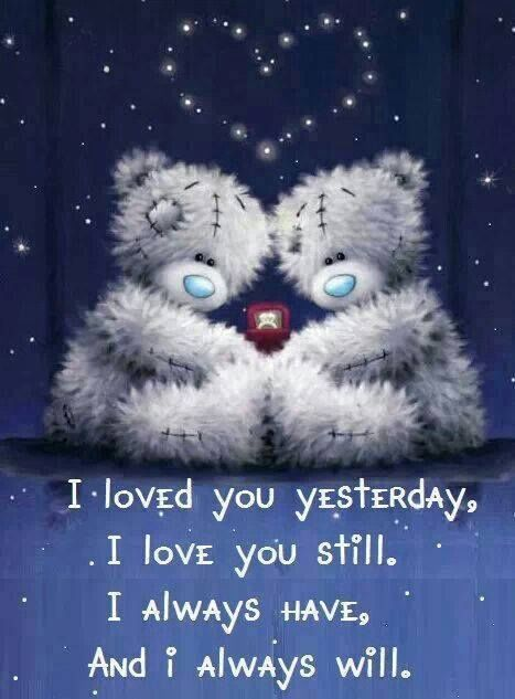 Love Quotes With Teddy Bear Images: I Love You And Always Will Pictures, Photos, And Images