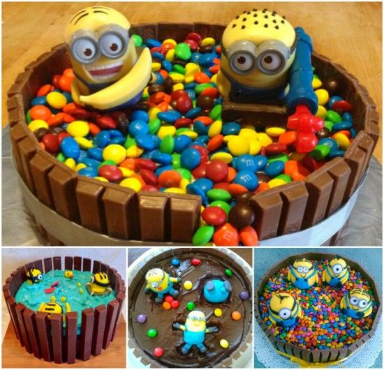 DIY Minion Kit Kat Cake Pictures Photos and Images for Facebook