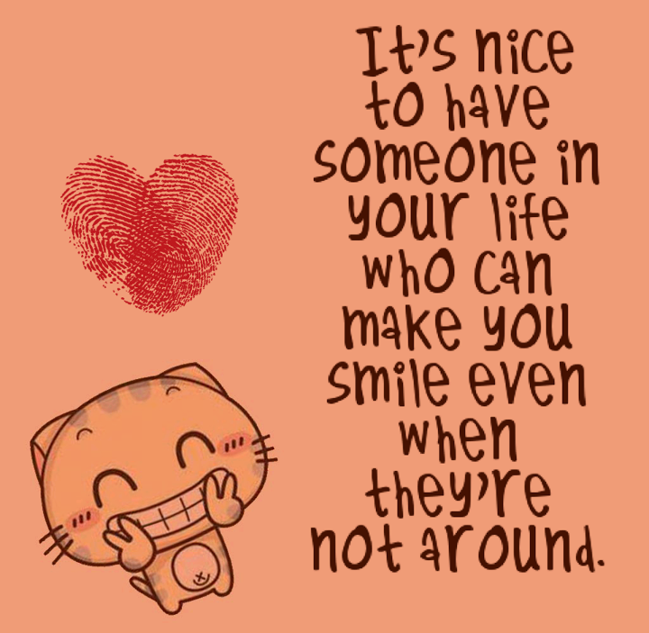 when someone makes you smile