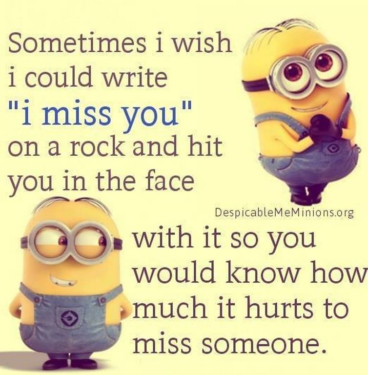 I Miss You Minion Quote Pictures, Photos, and Images for ...