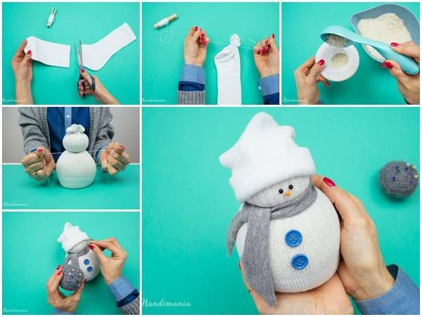 No sew sock snowman pictures photos and images for for How to make a snowman