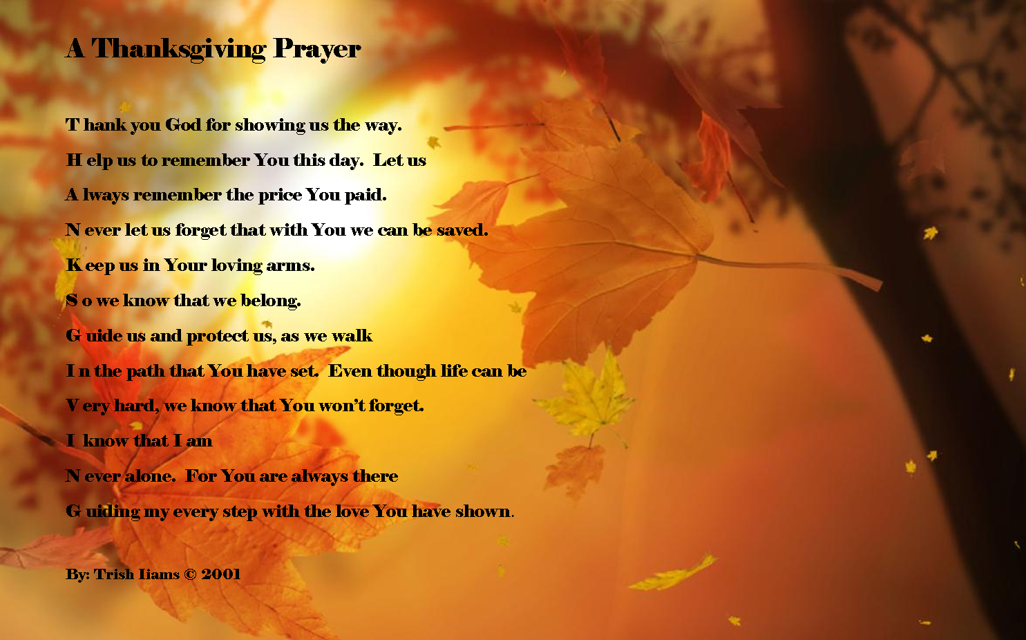 prayer of thanksgiving for singing with all on