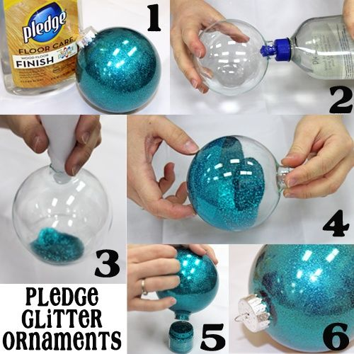 DIY Glitter Pledge Ornament Balls Pictures, Photos, And
