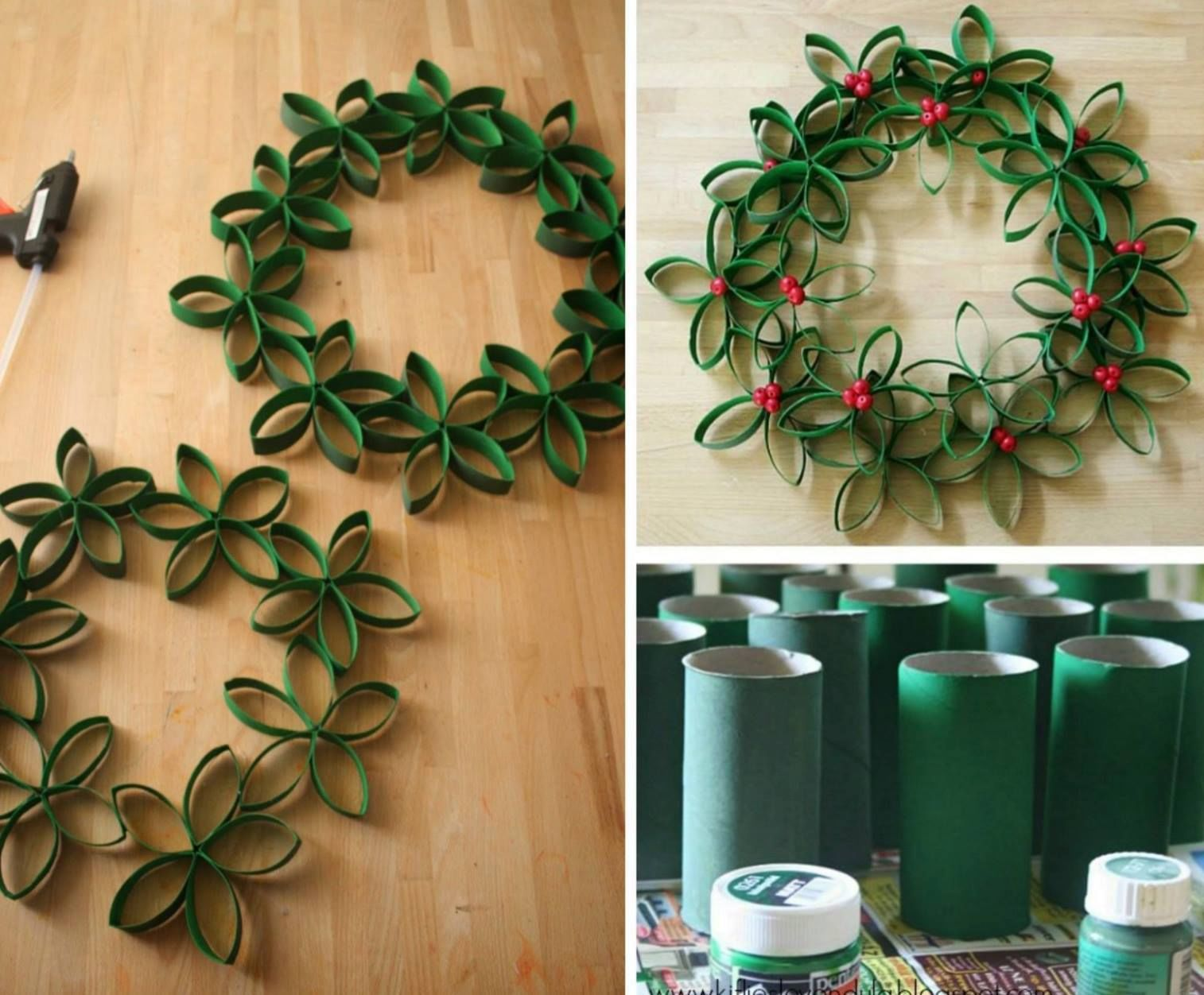 diy paper roll christmas trees pictures photos and images for facebook tumblr pinterest and. Black Bedroom Furniture Sets. Home Design Ideas