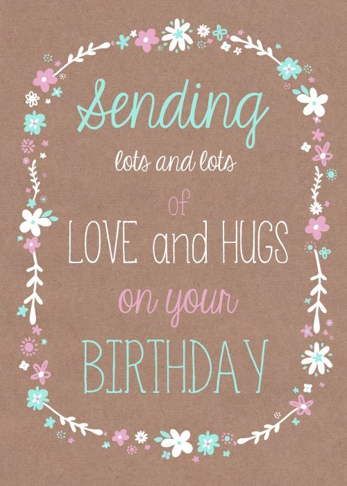 Lots Of Love And Kisses Quotes : Sending love and hugs on your birthday pictures photos