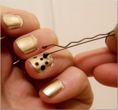Gold polka dot nails pictures photos and images for facebook gold polka dot nails sciox Image collections