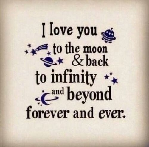 I Love You To Infinity And Beyond Pictures Photos and Images for
