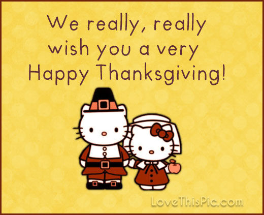 Happy Thanksgiving Hello Kitty Pictures, Photos, and ...