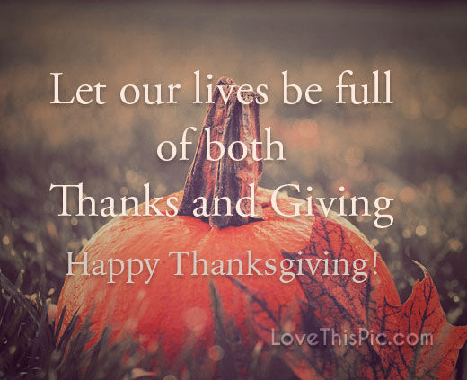 Giving Thanks Quotes And Sayings: Thanks And Giving Pictures, Photos, And Images For