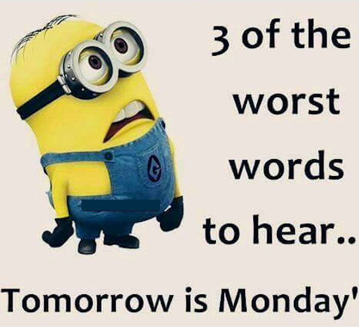 Minion Monday Quotes: Tomorrow Is Monday Minion Quote Pictures, Photos, And
