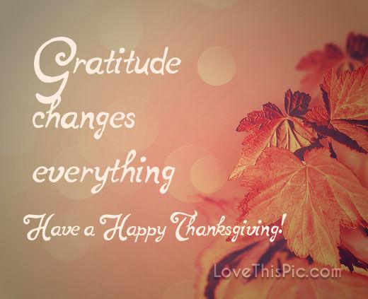 Gratitude Thanksgiving Quote