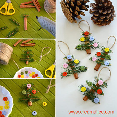 diy cinnamon stick christmas tree decorations