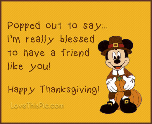 Quotes From Mickey Mouse: Mickey Mouse Happy Thanksgiving Quote Pictures, Photos