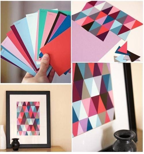 Diy paint chip wall art pictures photos and images for facebook tumblr pinterest and twitter - Wall decor diy ...