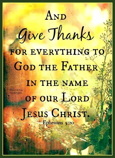 Thanksgiving Give Thanks to God