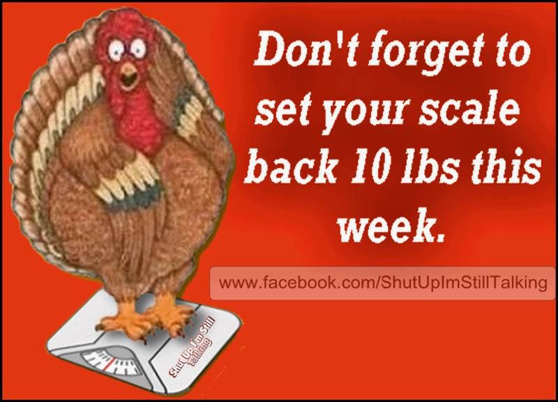 Don 39 t forget to set your scales back on thanksgiving for Funny thanksgiving phrases
