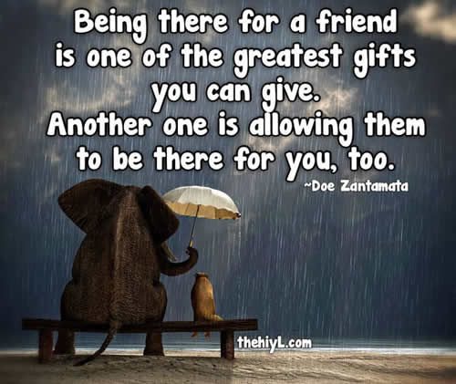 Thank You For Your Birthday Wishes For Being There: Being There For A Friend Pictures, Photos, And Images For