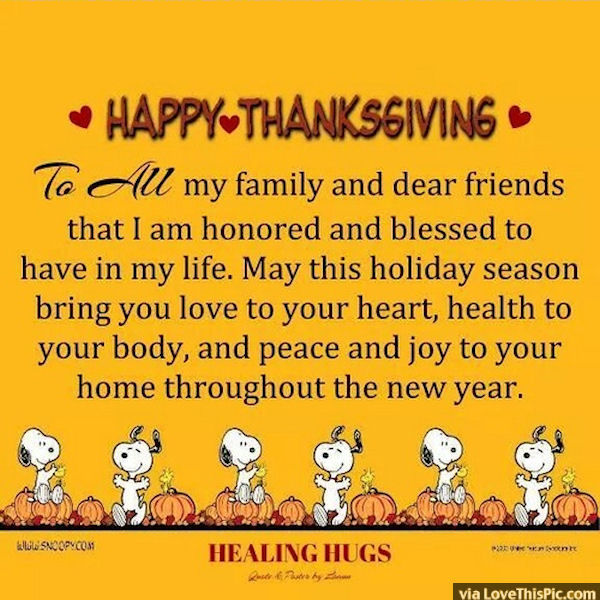 Happy Thanksgiving To All My Friends And Family Pictures ...