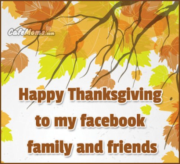 Thanksgiving Quotes Kids: Happy Thanksgiving To My Facebook Friends And Family