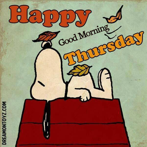 Good Morning Snoopy Quotes : Snoopy good morning thursday quote pictures photos and