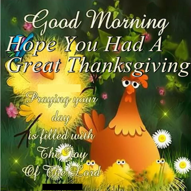 good morning hope you had a great thanksgiving quote