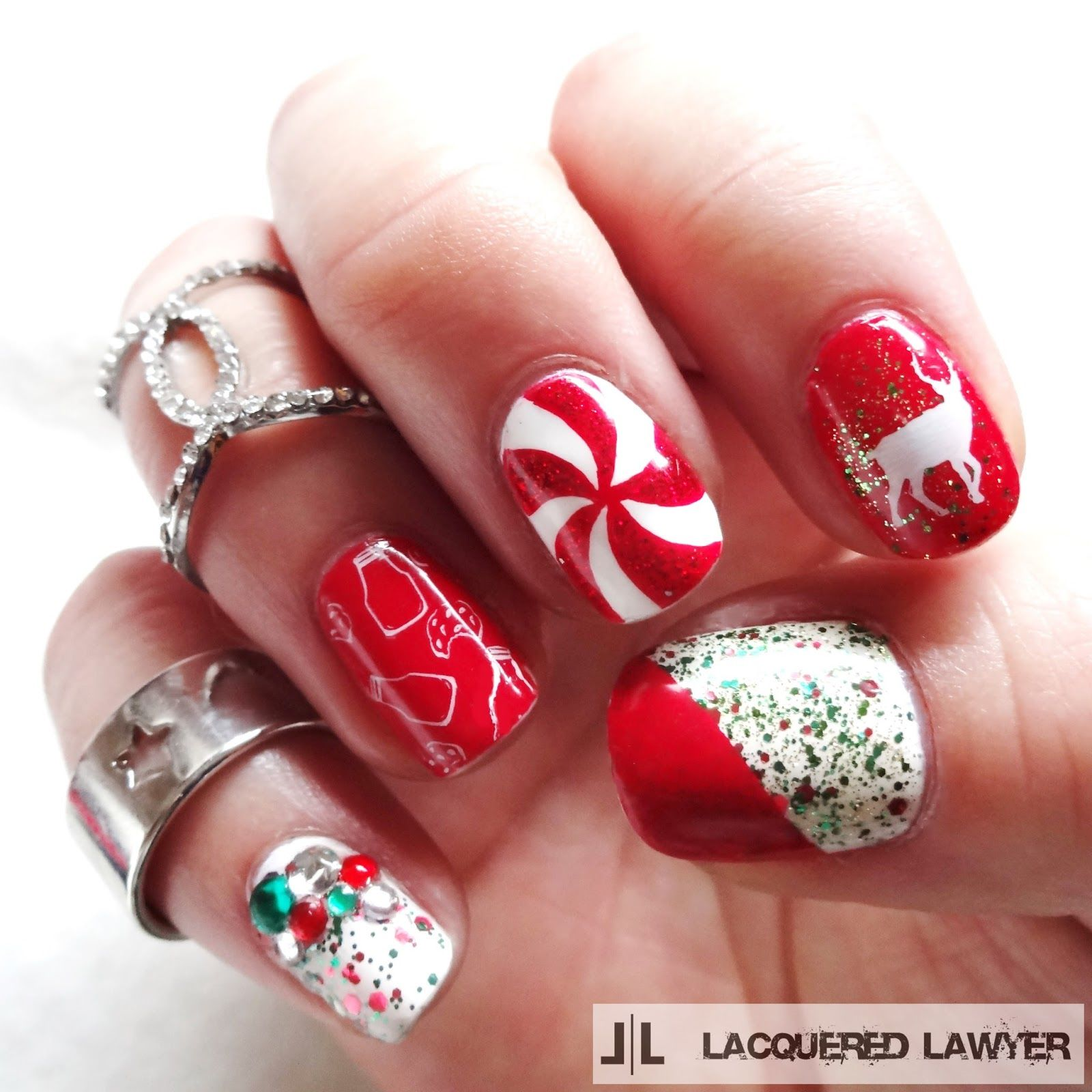 Christmas Lights Nails Pinterest: Red Festive Christmas Nail Art Pictures, Photos, And