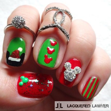 Merry Mickey Christmas Nails Pictures Photos And Images