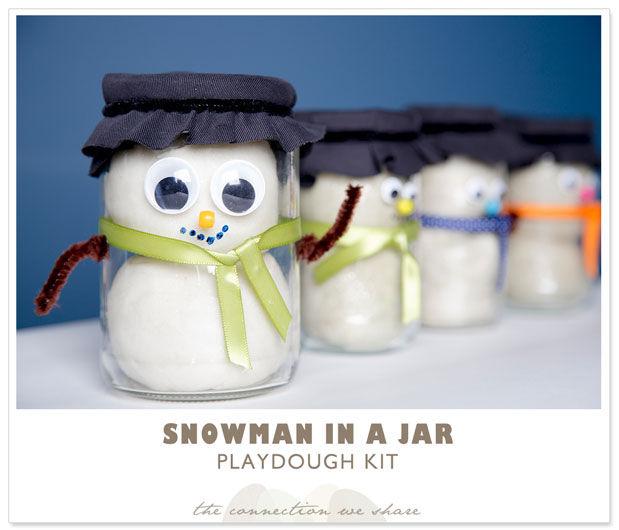 Как сделать снеговик из банки