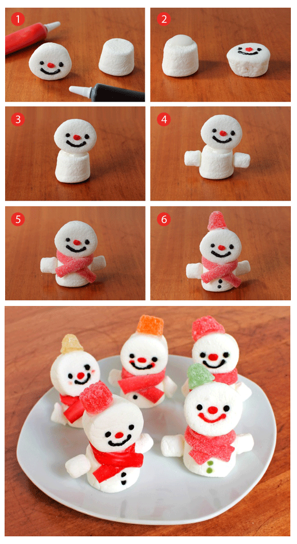 how to make marshmallow snowmen pictures photos and. Black Bedroom Furniture Sets. Home Design Ideas