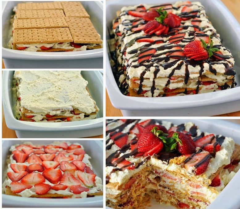 No-Bake Strawberry Icebox Cake Pictures, Photos, and Images for ...
