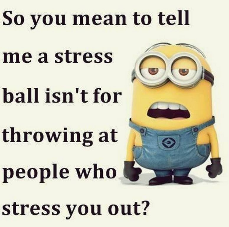 Funny Minion Quote About Stress