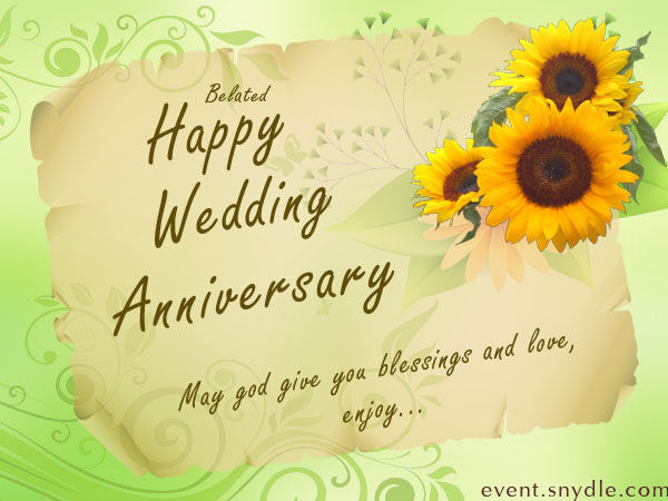 Hy Belated Wedding Anniversary Quote