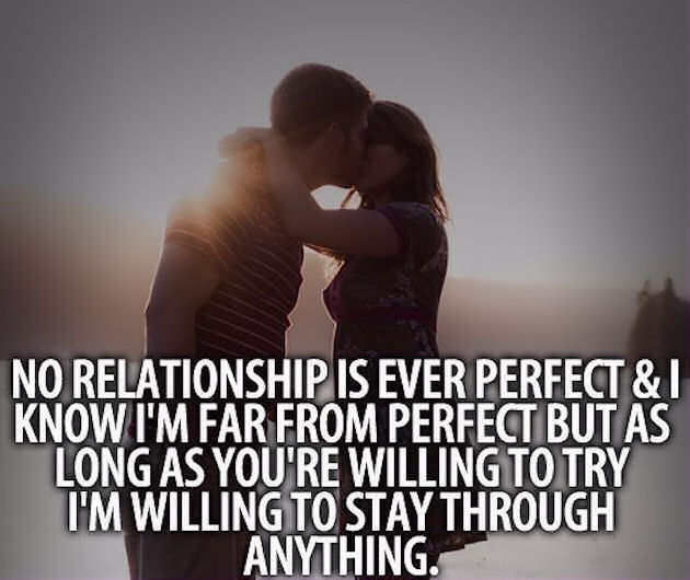 No Relationship Is Ever Perfect